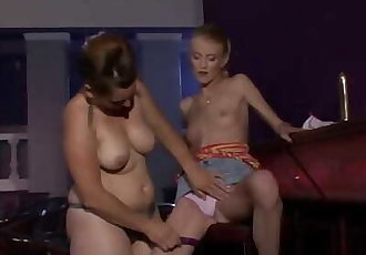 Mom Toying his Slim Blonde Girlfriend