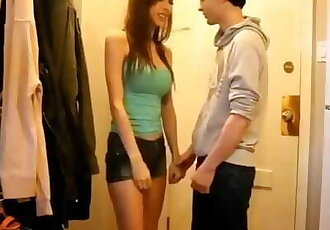 Handsome Guy Finally Gets to Fuck a Hot Girl