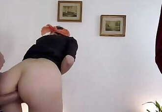 Tricked by the Therapist, he Cum on my Ass while my Husband is Blindfolded