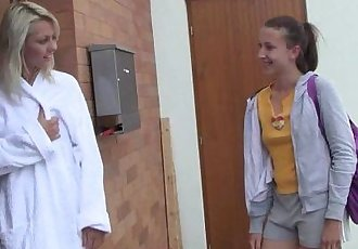 Lesbo teens Sabrina and Nicoleta masturbatingHD