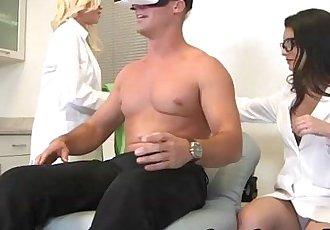 Sweet hot babe Kacey Quinn dealing with a huge hard cockHD