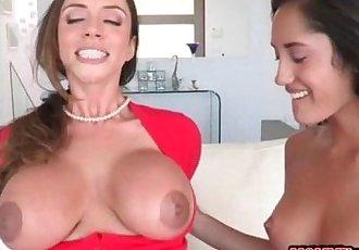 Stepmom Ariella Ferrera sharing dick with Chloe Amour