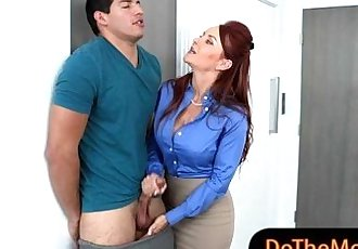 Janet Mason and Alex Tanner hot FFM 3way with meaty cock