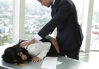 A sexy and hot secretary Megan Rain fuck hard in the office