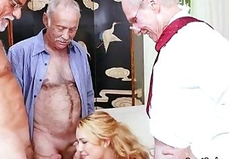 Teen Raylin Ann Gets Surrounded By Big Old Dicksn.RaylinAnn06.wm
