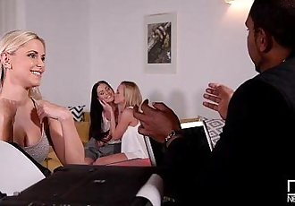 3 Horny Chicks Stuffed Deeply by Monster DickHD