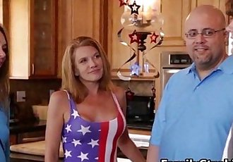 Fucking New Step Sister My Old Fuck Buddy On The 4th Of July-FamilyStroking.com