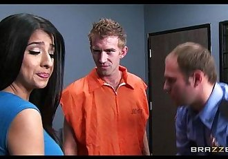 Megan Salinas gives a conjugal visit to a big dicked BritHD