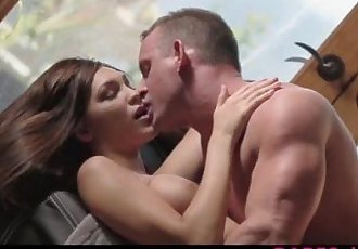 Busty brunette Holly Michaels sensual fuck