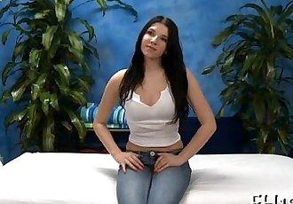 Hawt eighteen year old brunette slut
