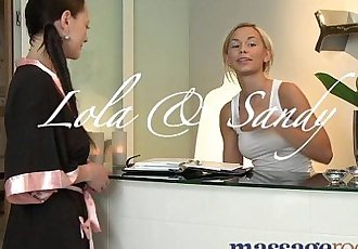 Massage Rooms Blonde teen masseuse given strong orgasm by lesbian clientHD