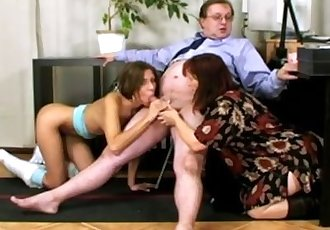 Old Couple, Naughty Teen