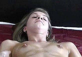 Oiled Skinny Teen