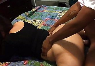 My gf goes at it again with a thick bbc