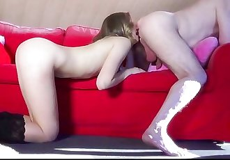 Young naughty escort ass licking crazy fucking for old man cum swallows
