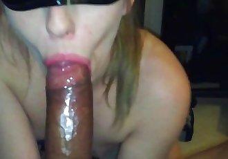 Drunk Blonde Teen Sucks Huge BBC For Cum While Getting Fucked