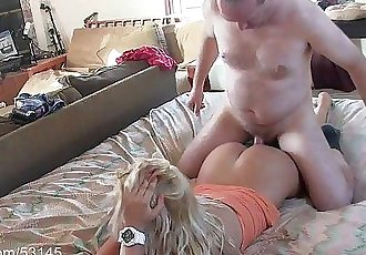 Sexy Blonde Massaged and Creampied HDHD