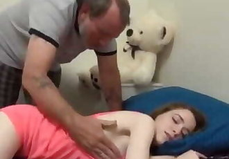 Father fucks hard his sexy 18yo tiny stepdaughter in tight pussy