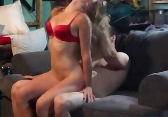 Amateur Teens Fuck in Parents Basement - Loud Moaning and Facial