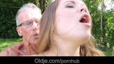 Big old boner smashes nice a very young sweet girl