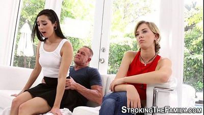 Teen stepdaughter caught