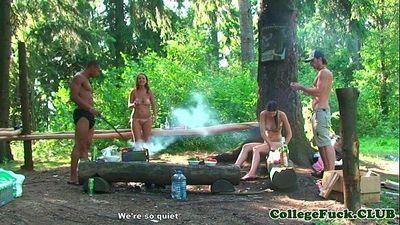 Bikini teen fucked in the forestHD
