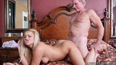 Sexy 18 Year Old Fucks 78 Year Old GrandpaHD
