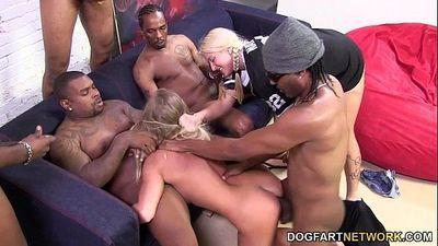 Britney Young enjoys her first interracial gangbangHD