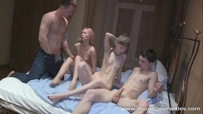 Teen swingers fuck togetherHD
