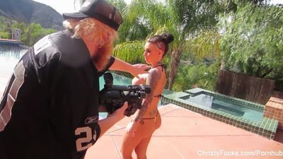 Christy Mack And Dahlia Sky Threesome Behind The Scenes