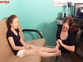 Mom And Teen Foot Worship
