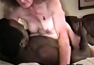 Old Woman Getting Off On A Black Cock - 6 min