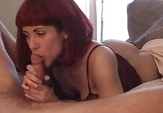redhead slut cum swallow - 2 min