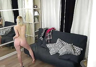 Hidden spy camera in the room my young stepsister 10 min HD+