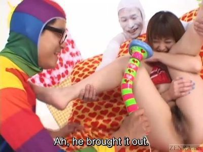Subtitled ENF CMNF Japanese vibrator play with Miyuki Hourai