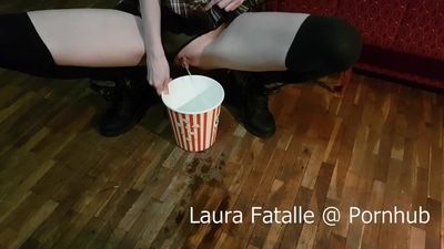 Step Sister Got2Pee while watching TV - Laura Fatalle (60fps)
