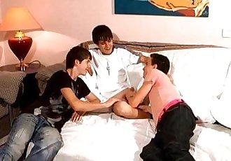 Three Naughty Twinks Gay Sex