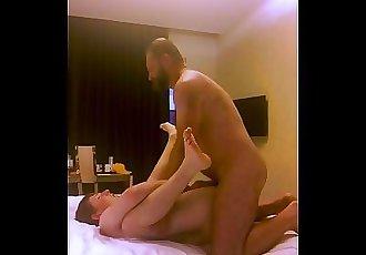 Daddy fucks and breeds Britsh boy on vacation.