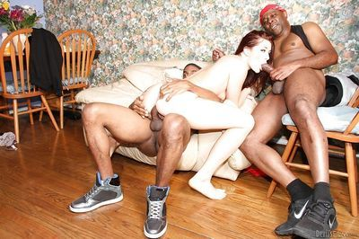 Interracial gangbang scene with Cici Rhodes- who loves groupsex - part 2