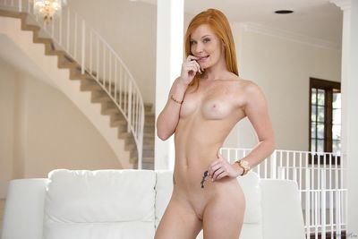 Hot and dazzling fox Alex Tanner touches her sensitive nipples - part 2
