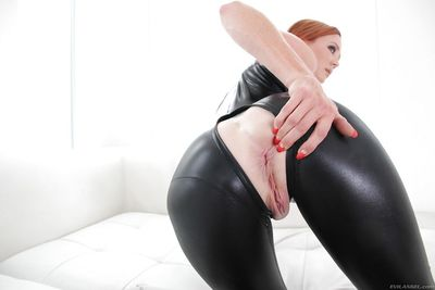 Big ass reedhead latex loving babe Audrey showing her big titties - part 2