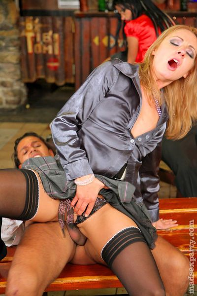 Lascivious babes with hot bodies are into hardcore house sex party - part 2