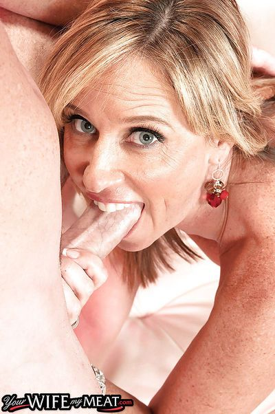 Blonde MILF Jodi West amazing sex with two guys in rough threesome XXX - part 2