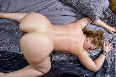 Chubby amateur Dana Karnevali taking dick in hairy cunt and asshole - part 2