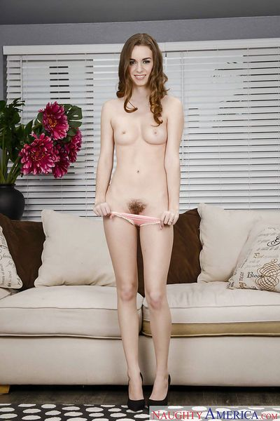 Barely legal coed solo girl Tali Dova flashes upskirt panties in high heels - part 2