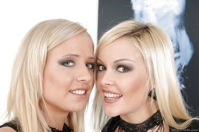 Adorable blonde babes are into interracial hardcore ass fucking