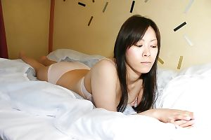 Shy asian chick strips down and showcases her hairy twat in close up - part 2