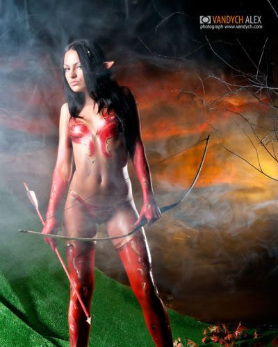 Blood Elf -Hunter *Nudeart*