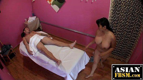Mika Tan Gives A Massage And Blowjob