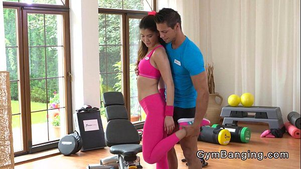 Asian fit babe fucked in gym HD